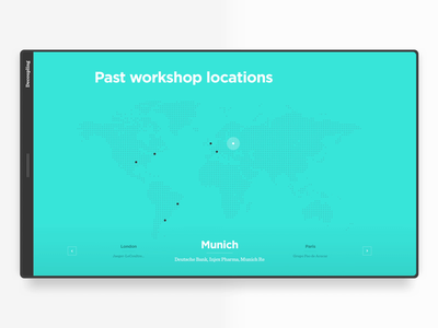 Author Website Map Microinteraction principle app places transition interface uxdesign locations animated map animation uidesign ui ux microinteraction map website