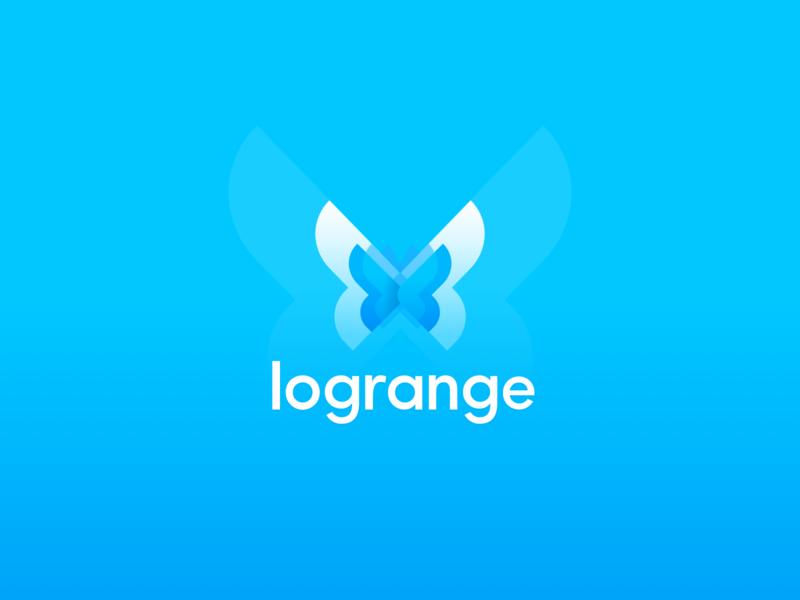 Butterfly Logotype. Logrange streaming database. information velocity database butterfly identity design logotype branding logo