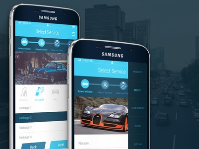 Car Wash App UI  automobile vehicle ui design car wash carwash
