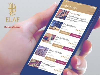 Elaf - Hotel Booking App UI list view ui hotel booking ui app design hotel booking ui design