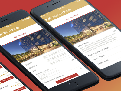 Elaf - Hotel Booking App Design hotel booking app ux design ui design
