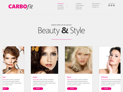 Beauty & Style - Web UI Design cosmetics makeup style beauty fashion