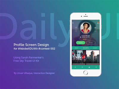 Daily UI - User Profile Screen adobe profile screen screen user profile daily ui