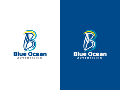 Blue Ocean Logo Design advertising creative ocean blue logo design