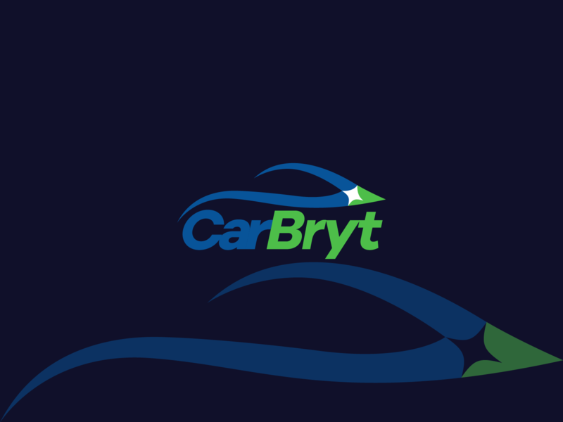 CarBryt Logo Design car detaling car wash carwash