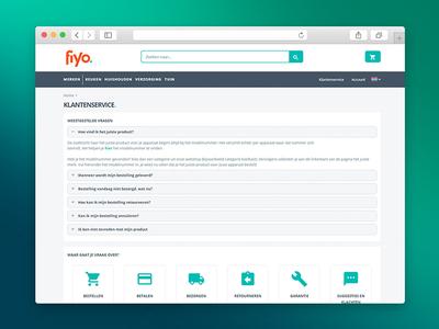 Customer service Page Fiyo.nl