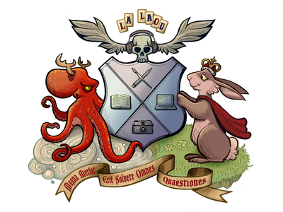 Coat of Arms illustration coat of arms octopus rabbit shield skull wings