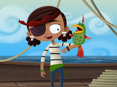 Pirates need parrots illustration pirate pirates character design parrot