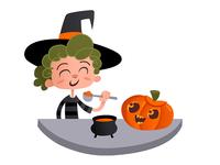 Enjoy! illustration recipe pumpkin character design