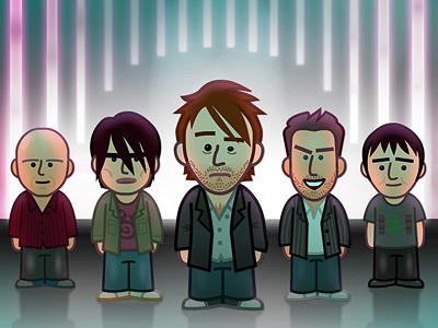 Radiohead radiohead illustration caricature thom yorke doodle