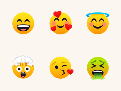 Joypixels - 01 after effects motion graphics loop 2d emoticons emoticon emoji set emojis emoji animation