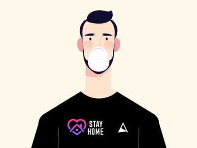Stay Home covid stayhome after effects motion graphics 2d animation mograph loop character 2d animation