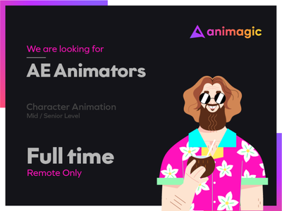 We are looking for AE Animators! fulltime aftereffects ae animation hiring looking for job