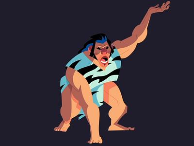 Caveman - Animation Breakdown cartoon caveman toonboom 2d animation loop character 2d animation