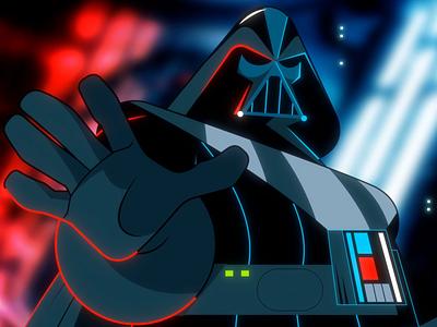 AnimaGIF #1 may4th yoda luke vader star wars starwars loop character 2d animation