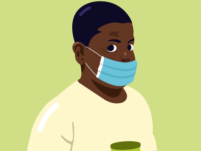 AnimaGIF #6 staysafe stayhome pandemic covid 3d art loop character 2d animation