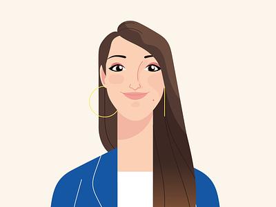 Animated Email Signature - Emilia signautre portrait email profile character design character illustration mograph 2d animation