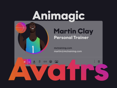 Animagic - Animated Email Signatures design branding illustration motion graphics after effects 2d animation mograph loop character animation