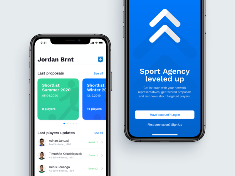 Football MGMT   Home Screen whitespace ui element list view connect minimal ios app design ios ios app welcome screen home screen ui design mobile ui product design product mobile ui clean app design application app