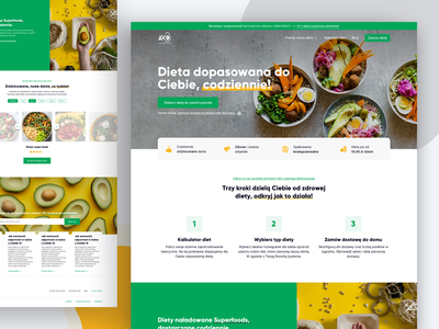 Avo Catering | LandingPage landing page landingpage landing design landing catering webdesign ecommerce design clean shop shopify shopping order commercial commerce ecommerce shop ecommerce ui landing page design homepage hero section