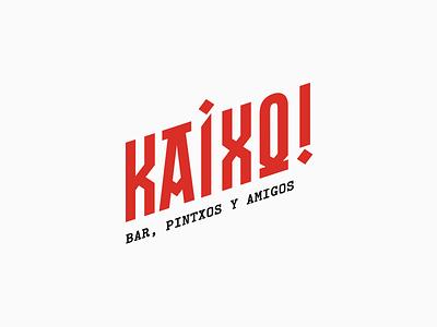 Kaixo!   Branding concept brand and identity identity design symbol typographic typography art typogaphy concept design concept bar minimal minimalist logo clean identity brand identity branding brand logo design logotype logo