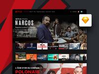 Freebie | Netflix Desktop UI
