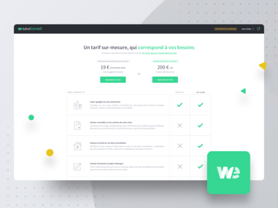 WeSave Conseil | Pricing