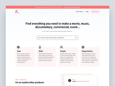 Klapser | LandingPage hero landing page search engine platform collaborative product design product page clean web landingpage minimal landing app ui