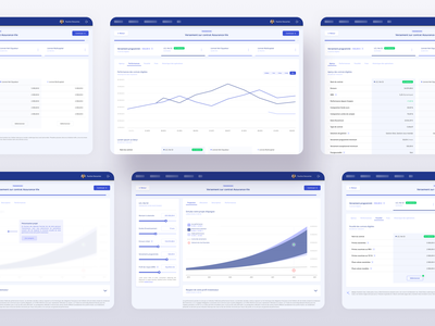 FinTech App | Charts & tables samples clean ui ui banking fintech minimal clean app desktop list view list charts table view dashboard product design webapp table listing filters whitespace