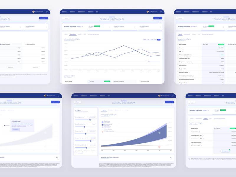 FinTech App   Charts & tables samples clean ui ui banking fintech minimal clean app desktop list view list charts table view dashboard product design webapp table listing filters whitespace