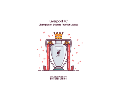 Champion of England klopp believer celebre lfc ynwa football premierleague champion liverpool liverpool fc trophy red design vector graphic illustration
