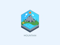 Isometric : Mountain