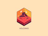 Isometric : Volcano