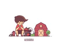 Tea Time in Farm