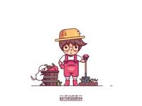 Farm Boy and Puppy