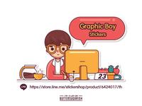 Graphic Boy Stickers