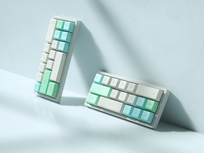 Pastel Keyboard 1/3 octane art lowpoly animation render illustration cinema4d 3d