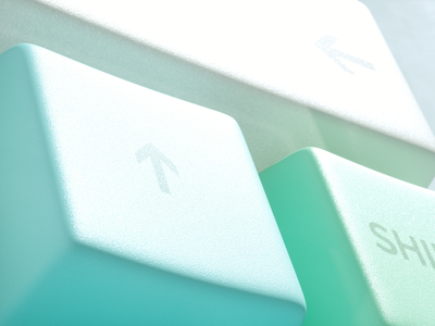Pastel Keyboard 2/3 octane animation render illustration cinema4d 3d