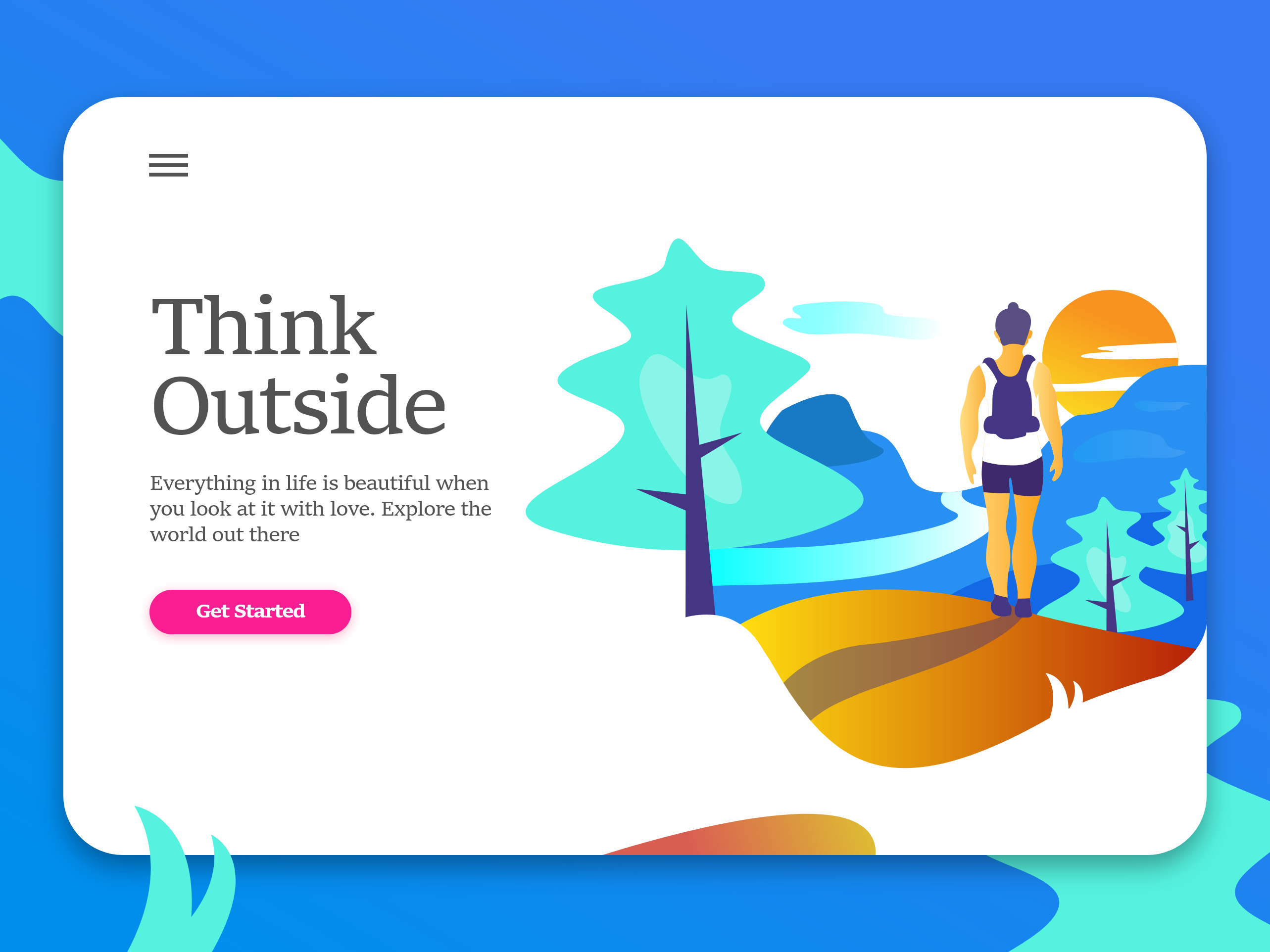 Think outside   1 2x