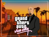 GTA Vice City concept illustration