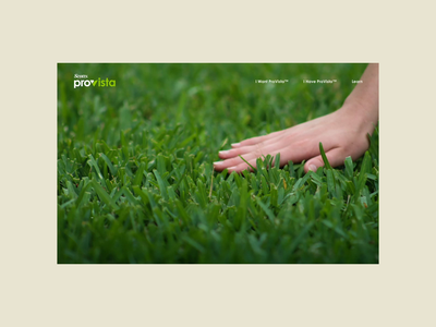 ProVista™ website & motion demo turf grass provista scotts branding aftereffects motion graphics ui ux website animation motion demo motion