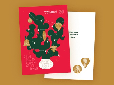 Woltz Family Christmas Card - 2020 cacti santa seasons greetings christmas lights logo ornaments holiday season holiday card cactus christmas