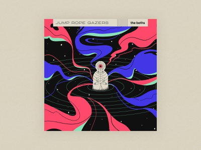 10x20 - 10: Jump Rope Gazers - The Beths poster alone person neon space cyclops illustration procreate album art vinyl 10x20 album jump rope gazers the beths
