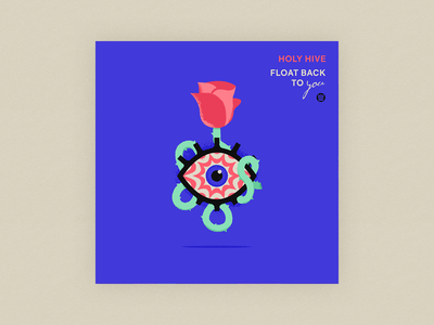 10x20 - 9: Float Back To You - Holy Hive music band art vinyl album hypnosis hypnotic 10x20 illustration floating gig poster record thorn rose eye album art holy hive