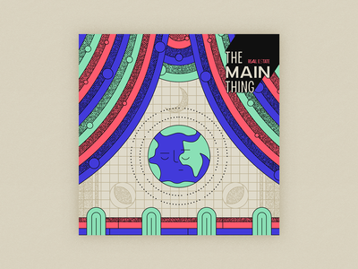 10x20 - 8: The Main Thing - Real Estate stroke silent top albums 10x20 album art moon halftone stage globe earth procreate the main thing real estate