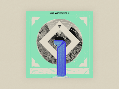10x20 - 7: The Waterfall II - My Morning Jacket deep top albums jim james abstract texture procreate iceland 10x20 music music art vinyl album art the waterfall waterfall