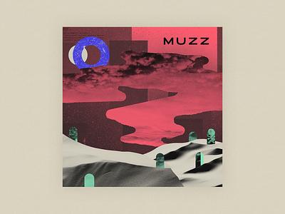 10x20 - 5: Muzz - Muzz texture moon sun clouds top albums sand cacti interpol desert red western sky music 10x20 music app collage muzz muzz