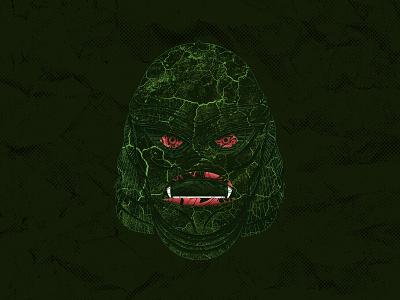 The Creature texture movie cover vintage horror movie horror universal monster monster halloween black lagoon creature procreate illustration