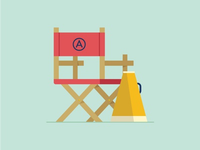 Director's Chair back megaphone action movie chair email directors chair