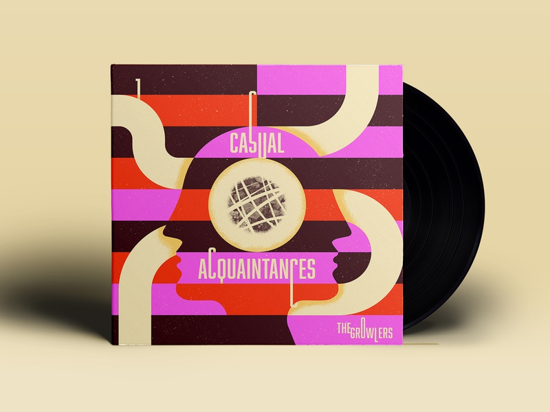 No. 1 - Casual Acquaintances ~ the Growlers illustration procreate texture flowers pipes faces 10x18 album art vinyl the growlers